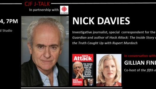 Nick Davies in conversation with Gillian Findlay