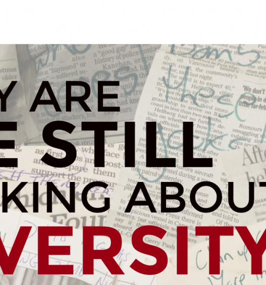 The Ryerson Review of Journalism's first online, interactive feature, #WhyDiversity. Screenshot by J-Source.