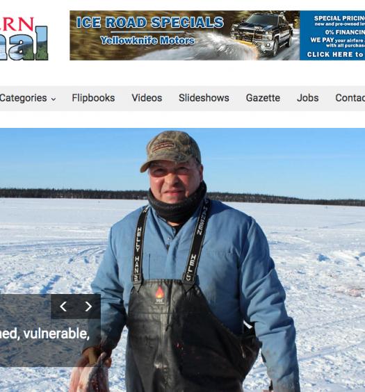 The Northern Journal printed their last issue last week. Screenshot by J-Source.