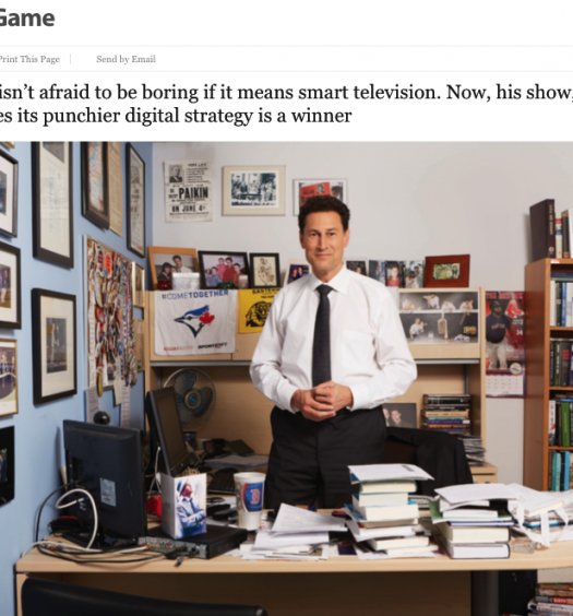 The Ryerson Review of Journalism's profile of Agenda host Steve Paikin