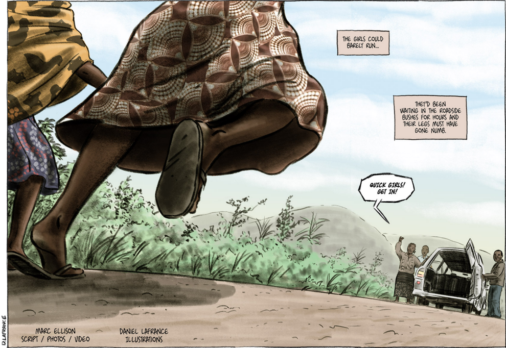 A panel from Marc Ellison's graphic novel
