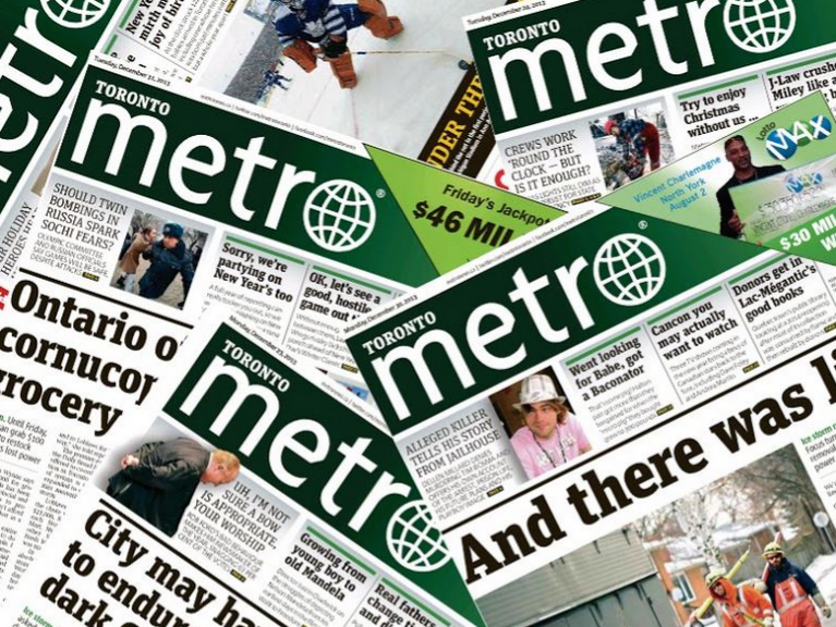 Metro Toronto laid off about a quarter of their newsroom in March. Photo illustration courtesy of Eric Mark Do.
