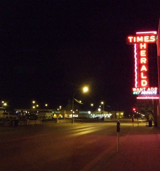 A sign for The Moose Jaw Times Herald in Saskatchewan. It is among the 13 papers being sold to Star News Publishing by Transcontinental. Photo courtesy Joseph Novak/CC 2.0 Generic.