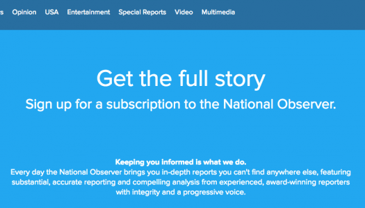 National Observer goes behind a paywall