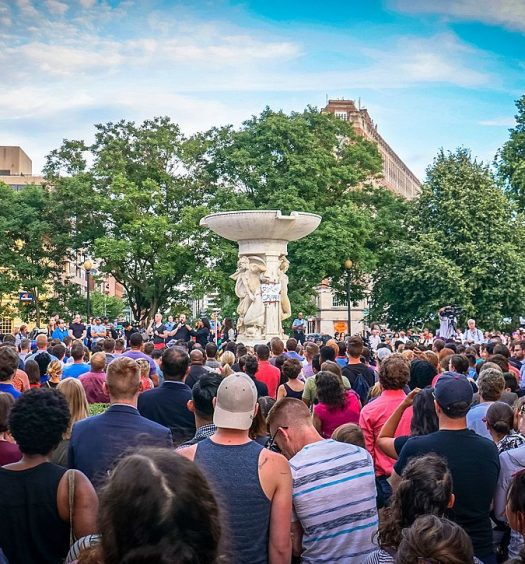 Vigil in support of the victims of the 2016 Orlando nightclub shooting, Washington, D.C. Image courtesy Ted Eytan/CC BY-SA 2.0.