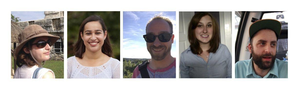 From L-R: Patricia Leboeuf, Nouran Abdellatif (photo courtesy Daren Zomerman), Andrew Pinsent, Cassandra Dresch and Brandon Barrett.