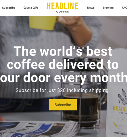 The Toronto Star launched Headline Coffee on Sep. 12, a venture that delivers Fair Trade coffee along with the paper. Screenshot by J-Source.