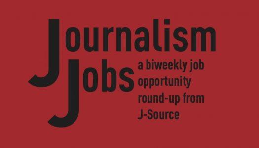 Journalism Jobs: October 12