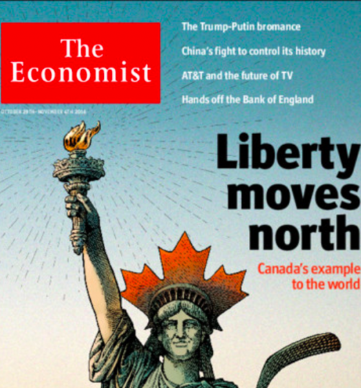 The Oct. 29 cover of The Economist. Screenshot by J-Source.