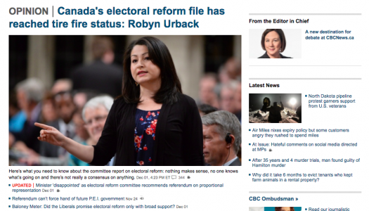 Furor over CBC's opinion section is a tempest in an inkpot