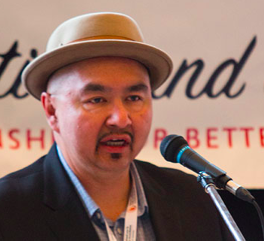 Mervin Brass speaks at The Reconciliation and the Media Conference. Photo courtesy Caitlin Taylor.