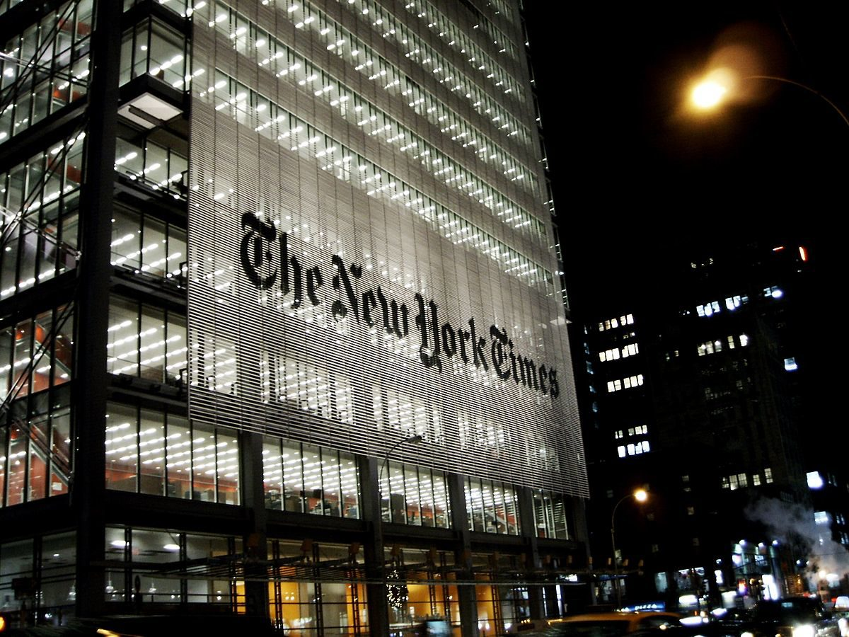 The New York Times building in Manhattan. Photo courtesy JavierDo/CC BY-SA 3.0.