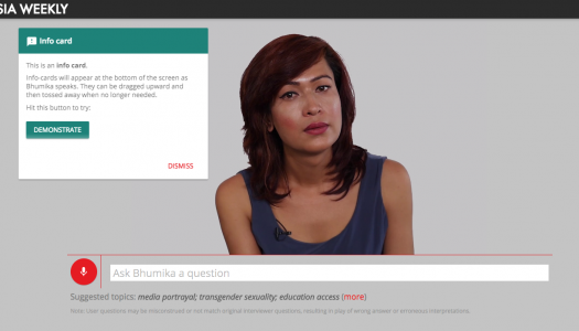 """Bhumika Can Speak For Herself"" using AI technology"