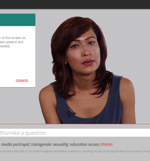 """Bhumika Can Speak For Herself"" is a project powered by IBM's Watson technology. Screenshot by J-Source."