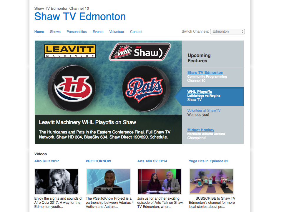 Vancouver, Calgary and Edmonton Shaw TV stations will close in August, affecting approximately 70 positions. Screenshot by J-Source.