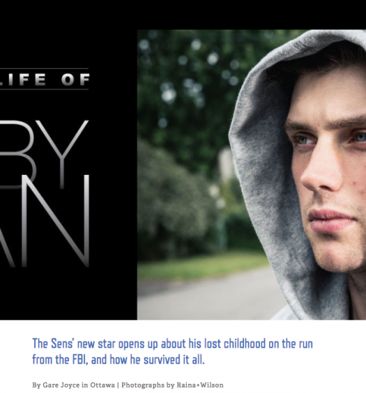 Gare Joyce's story about hockey player Bobby Ryan. Screenshot by J-Source.