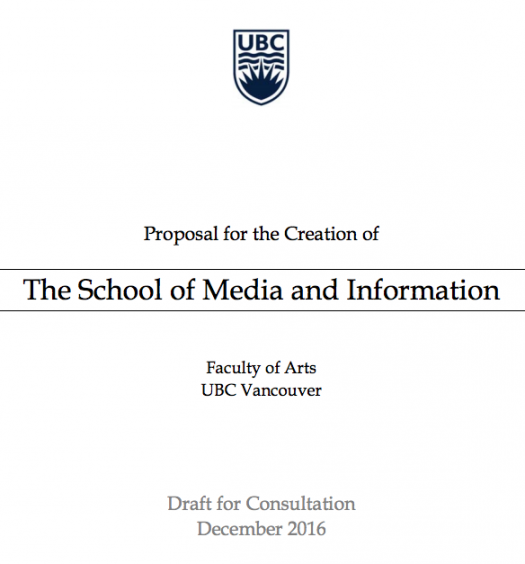 Original proposal would have created a School of Media and Information. Screenshot by J-Source.