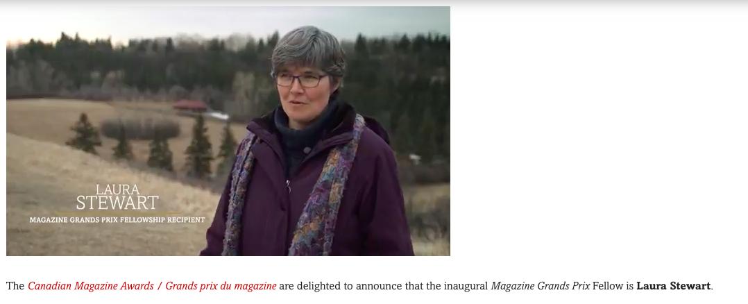 Laura Stewart will investigate climate change on Saskatchewan's grasslands. Screenshot by J-Source.