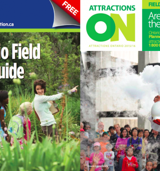 The CEO of Attractions Ontario says the Star's field trip guide, which recently won an award, bears a number of similarities to theirs. Screenshot by J-Source.