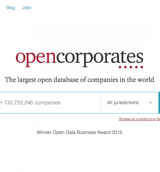 Many journalists in Quebec use enterprise database OpenCorporates while doing their work. Screenshot by J-Source.