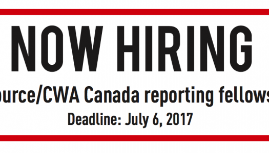 Apply for the J-Source/CWA Canada reporting fellowship