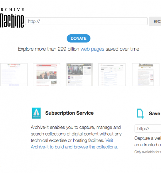 The disappearance of archived pages from the Internet Archive poses a threat to research and the preservation of news as the first draft of history. Screenshot by J-Source.