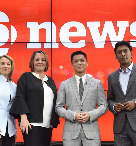 "Adrienne Arsenault, Rosemary Barton, Andrew Chang and Ian Hanomansing (left to right) are named the new hosts of ""The National,"" at a news conference in Toronto, Tuesday, Aug.1, 2017 Nathan Denette/Canadian Press"