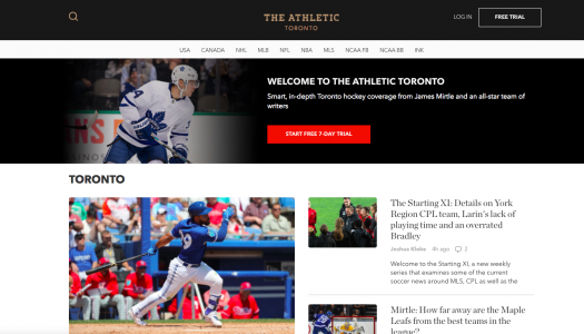 Four things The Athletic's editors have learned about building a Canadian audience