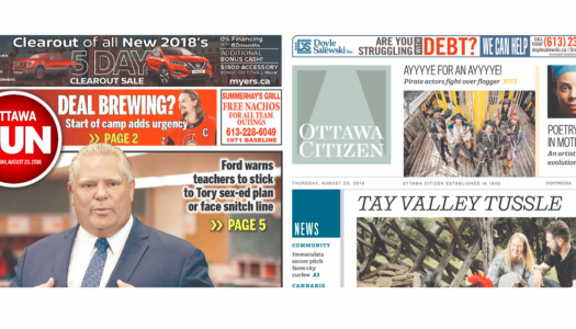 Ottawa union bargaining results may reverberate across Postmedia