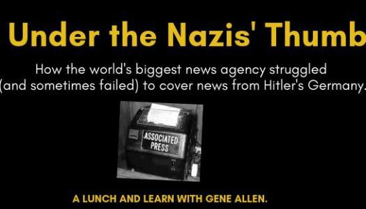 Under the Nazis' Thumb: A lunch and learn