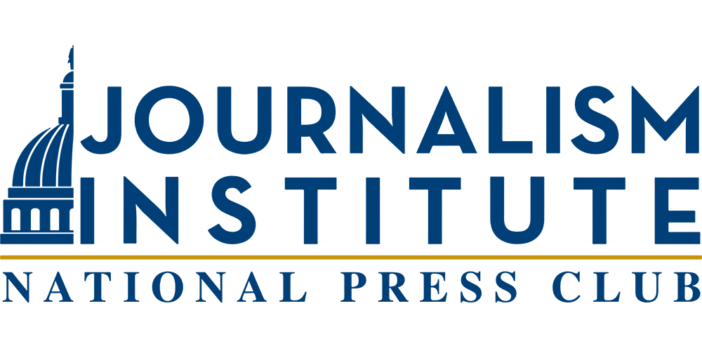 National Press Club Journalism Institute featuring an illustration of The White House.